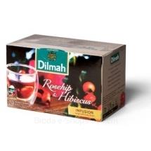 Herbata Dilmah Rosehip & Hibiscus RÓŻA Z HIBISKUSEM, koperty 20x1,5g