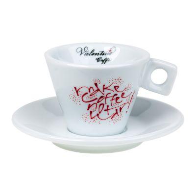 Filizanka do cappuccino z napisami Valentino Caffe